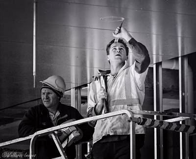 Photograph - Men At Work by Wallaroo Images
