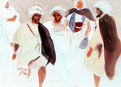 Men From The East Print by Munir Alawi