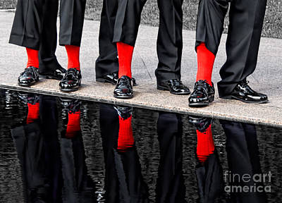 Photograph - Men In Black And Red by Barbara McMahon