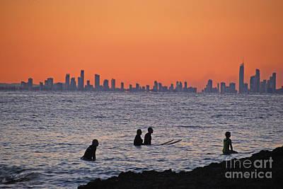 Photograph - Men On Board Waterscape by Ankya Klay