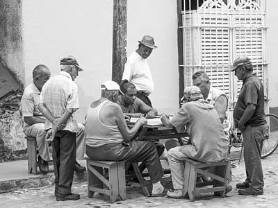 Photograph - Men Play Street Dominoes Cuba Image Art by Jo Ann Tomaselli