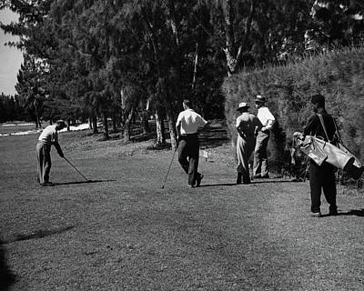Landscape Photograph - Men Playing Golf At The Jupiter Island Club by Serge Balkin
