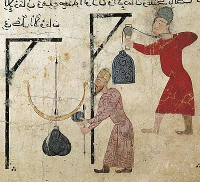 Men Weighing Goods. Fatimid Period Art Print by Everett