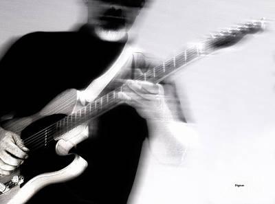 Guitar Player Digital Art - Men Who Play by Steven Digman
