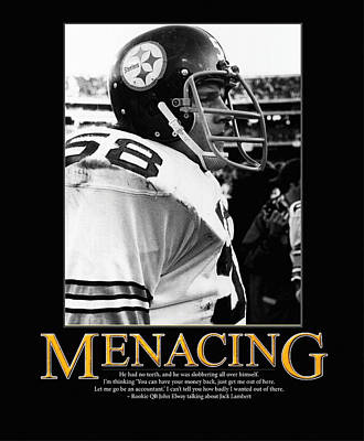 Pittsburgh Steelers Photograph - Menacing Jack Lambert by Retro Images Archive