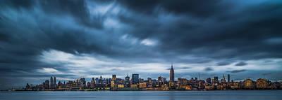 Menacing Sky Over Manhattan Art Print by Chris Halford