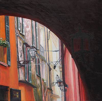 Painting - Menaggio Lanterns by Helen White