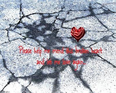 Digital Art - Mend This Broken Heart by Lizi Beard-Ward