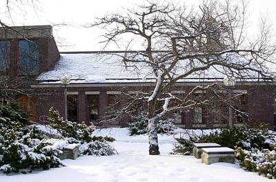 Cpa Photograph - Mendenhall Center Courtyard In Snow by Marianne Miles