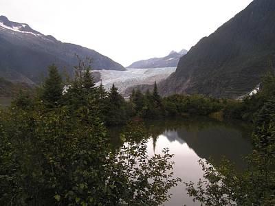 Mendenhall Glacier Painting - Mendenhall Glacier 1 Alaska by Annika Farmer