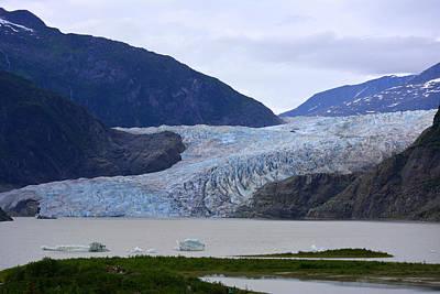 Photograph - Mendenhall Glacier 2014 by Judy Wanamaker