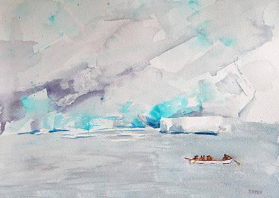 Mendenhall Glacier Painting - Mendenhall Glacier by Alaskan Raven Studio
