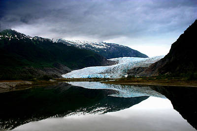 Mendenhall Glacier Art Print by Heather Applegate