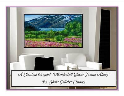 Mendenhall Glacier Painting - Mendenhall Glacier by Shelia Gallaher Chancey