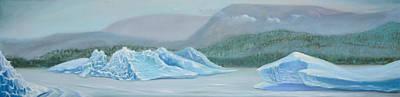 Mendenhall Glacier Painting - Mendenhall Glacier by Leonardo Di Fraia