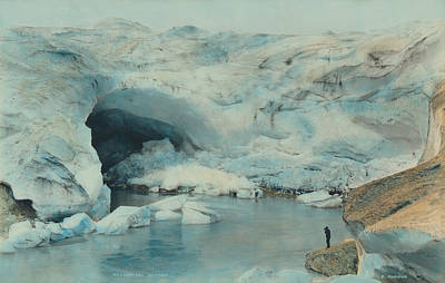Photograph - Mendenhall Glacier by Paul Ashby Antique Image