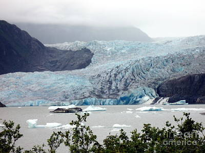 Photograph - Mendenhall Glacier Up Close by John Potts