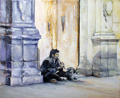 Mendicant With Dog Art Print
