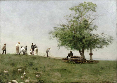 Net Painting - Mending The Net by Thomas Eakins