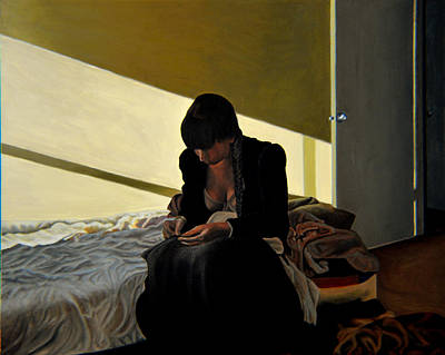 Andrew Wyeth Painting - Mending by Thu Nguyen