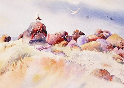 Painting - Mendocino Birds by John  Svenson