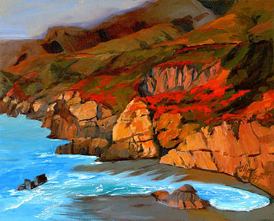 Painting - Mendocino Coast by Alice Leggett