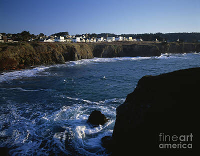 Photograph - Mendocino Historic Buildings Along Bluff by Jim Corwin
