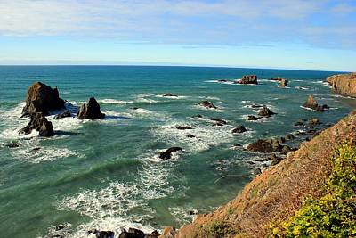 Photograph - Mendocino Rocks by Leigh Meredith