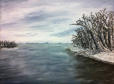 University Of Wisconsin Painting - Mendota In Gray by Evan Maltz