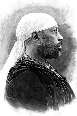 Black History Photograph - Menelik II Of Ethiopia by Collection Abecasis