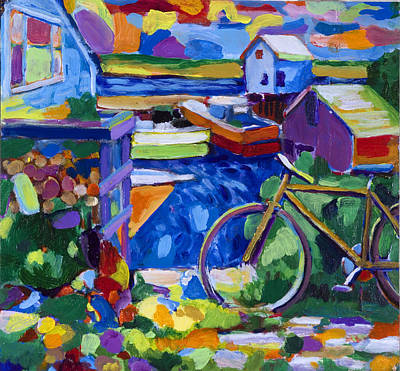 Menemsha At The Top Of The Stairs Art Print by Michael Phelps Morse