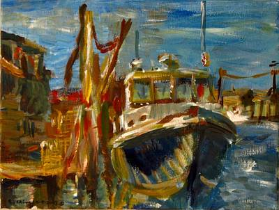 Painting - Menemsha Lobster Boat by Edward Ching