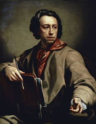 Self-portrait Photograph - Mengs, Anton Raphael 1728-1779 by Everett