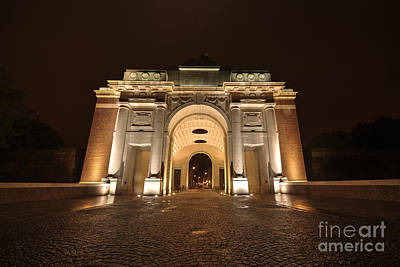 Ypres Photograph - Menin Gate By Night  by Rob Hawkins