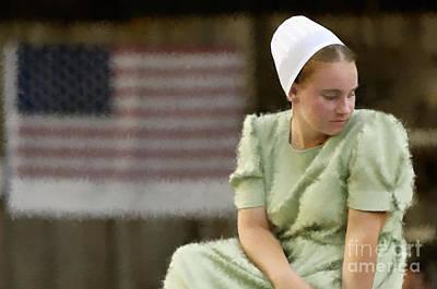 Photograph - Mennonite Girl - D004224d_p_t by Daniel Dempster