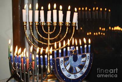 Chanukkah Photograph - Menorah Blue by Connie Mueller
