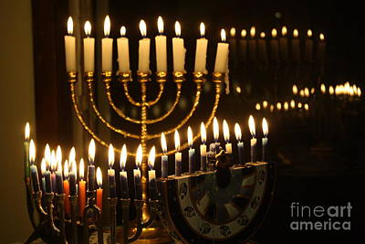 Chanukkah Photograph - Menorahs by Connie Mueller