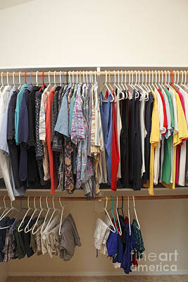 Airplane Paintings - Mens Clothes in a Closet by Lee Serenethos
