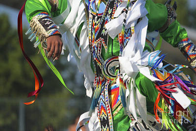 Photograph - Mens Grass Dancer In Green by Heidi Hermes