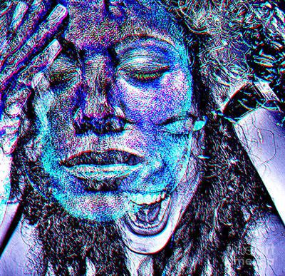 Emotional Blocks Digital Art - Mental Adversity by Kandayia Ali