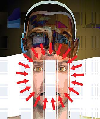 Compulsion Photograph - Mental Disorder, Conceptual Artwork by Science Photo Library
