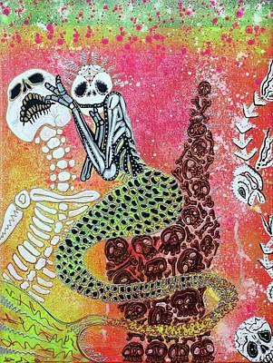 Mermaid Painting - Mental Mermaid Marnie by Laura Barbosa