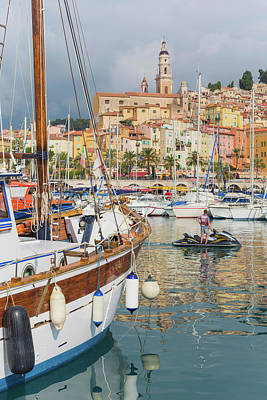 Dazur Photograph - Menton, Cote Dazur, French Riviera by Panoramic Images