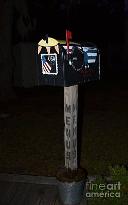 Photograph -  Restaurant Menu Mailbox  by Bob Sample