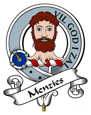 Menzies Clan Badge Art Print by John Lehman