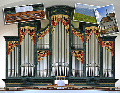 Photograph - Menzingen Organ Montage by Jenny Setchell