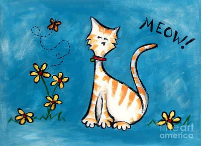 Meow Art Print by Diane Smith