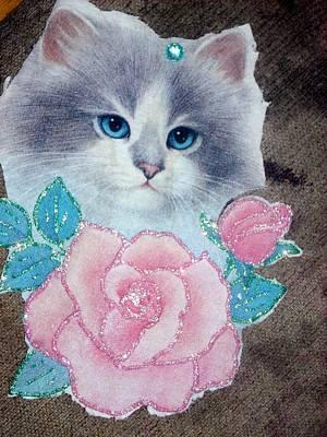 Etc. Digital Art - Meow by HollyWood Creation By linda zanini