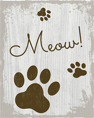 Meow Painting - Meow! by Nd Art & Design