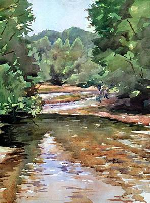 River Rafting Painting - Meramec River by Spencer Meagher